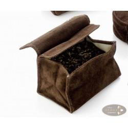 Tabak-Stellbeutel Wildleder klein braun