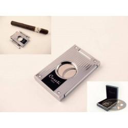 Cigarrenabschneider Caseti chrom Streifen 21mm Durchmesser