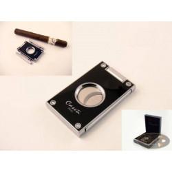 Cigarrenabschneider Caseti Lack schwarz 21mm Durchmesser