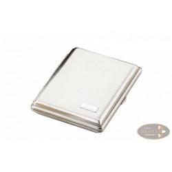 Zigarilloetui 10er Metall Nickel satiniert 11cm