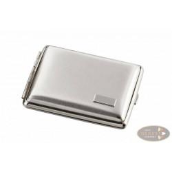 Zigarilloetui 10er Metall Nickel satiniert mit Gravurplatte