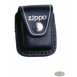 Zippo Ledertasche schwarz mit Clip