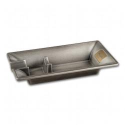 Zigarren-Ascher Metall chrom mit 1 Ablage