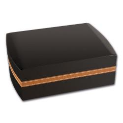 Humidor-Set schwarz/braun Lederoptik