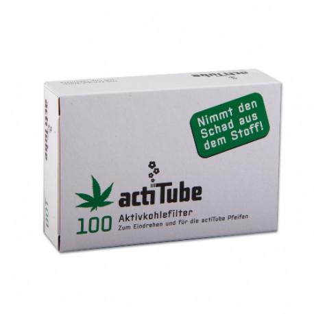 ActiTube Regular 8 mm Aktivkohlefilter 2 Keramikkappen 100 Stück