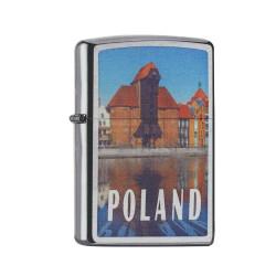 ZIPPO chrom gebürstet Poland/Danzig 60002122