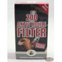 Ermuri Pfeifenfilter 9mm Aktiv Kohlefilter (200)