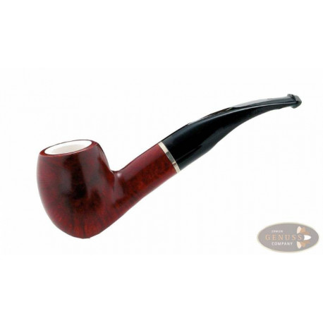Pfeife Capitello Beta Meerschaumfutter bordeaux/orange